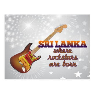 Rockstars are born in Sri Lanka Postcard