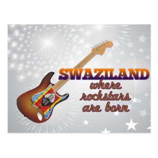 Rockstars are born in Swaziland Postcard