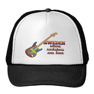 Rockstars are born in Sweden Mesh Hats