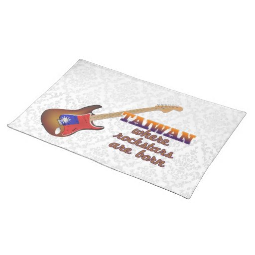 Rockstars are born in Taiwan Placemats