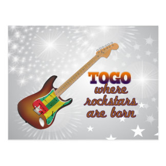 Rockstars are born in Togo Postcard