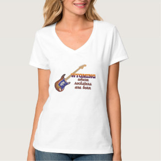 Rockstars are born in Wyoming T-Shirt
