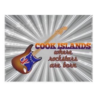 Rockstars nace en las islas de cocinero tarjeta postal