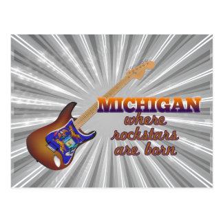Rockstars nace en Michigan Tarjeta Postal