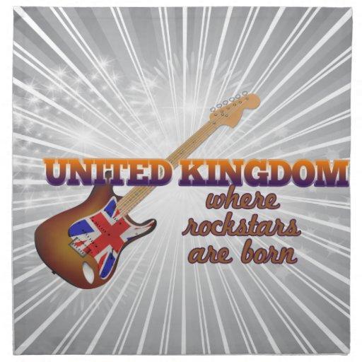 Rockstars nace en Reino Unido Servilletas Imprimidas