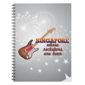 Rockstars nace en Singapur Libro De Apuntes Con Espiral