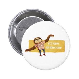 Rocksteady Sloth Button