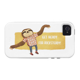 Rocksteady Sloth Case-Mate iPhone 4 Cases