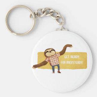 Rocksteady Sloth Keychain