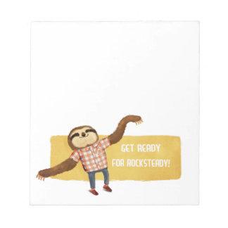 Rocksteady Sloth Memo Note Pad