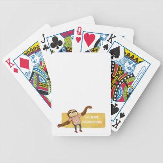 Rocksteady Sloth Poker Cards
