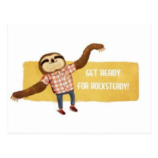 Rocksteady Sloth Postcard