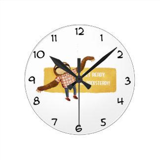 Rocksteady Sloth Round Clock