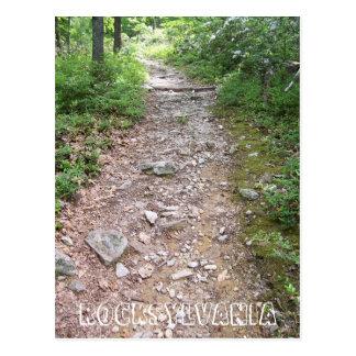 rocksylvania appalachian trail rocky path postcard