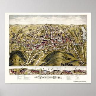 Rockville, CT Panoramic Map - 1877 Poster