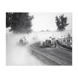Rockville Fair Auto Races 1923 Stretched Canvas Print
