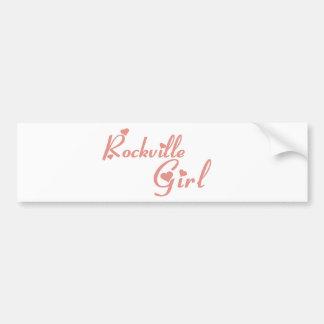 Rockville Girl tee shirts Car Bumper Sticker
