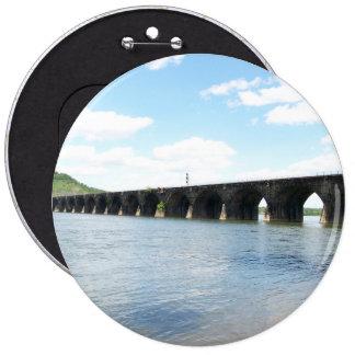 Rockville Stone Masonry Arch Railway Bridge Button
