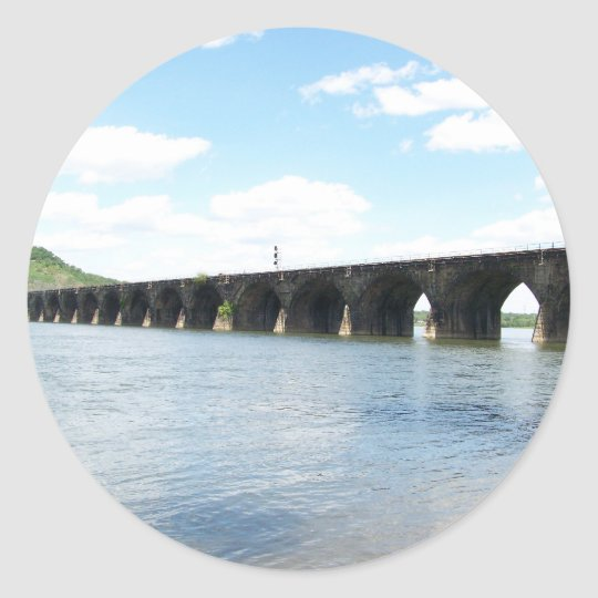 Rockville Stone Masonry Arch Railway Bridge Classic Round Sticker