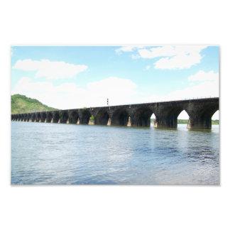 Rockville Stone Masonry Arch Railway Bridge Photographic Print