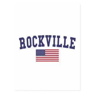 Rockville US Flag Postcard