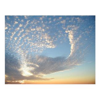 Rockwall Texas sunset postcard