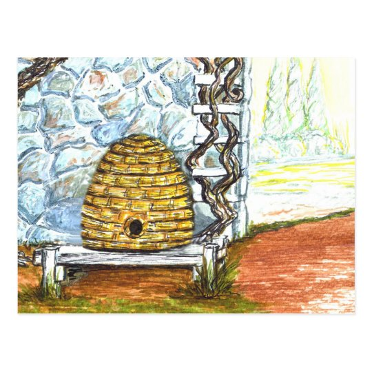 rockwall with skep postcard