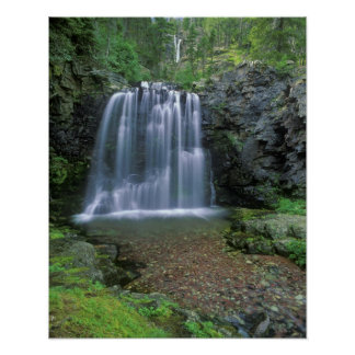 Rockwell Falls in the Two Medicine Valley of Poster