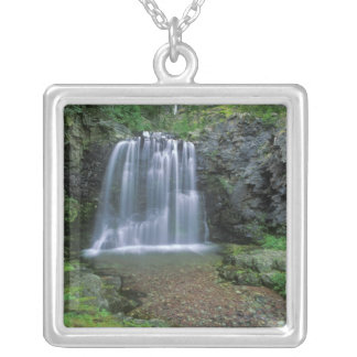 Rockwell Falls in the Two Medicine Valley of Silver Plated Necklace
