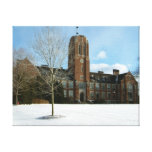 Rockwell in Winter at Grove City College Canvas Print