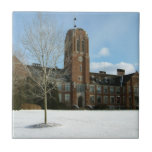 Rockwell in Winter at Grove City College Ceramic Tile