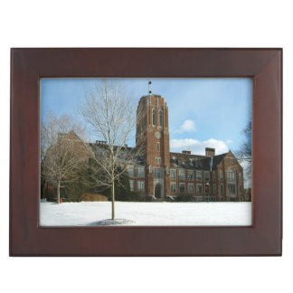 Rockwell in Winter at Grove City College Keepsake Box