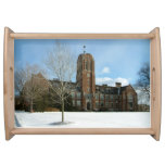 Rockwell in Winter at Grove City College Serving Tray