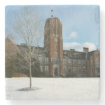 Rockwell in Winter at Grove City College Stone Coaster