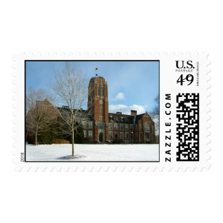Rockwell in Winter Grove City College Photography Postage Stamp