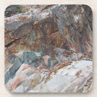 Rocky Abstract Plastic Coaster