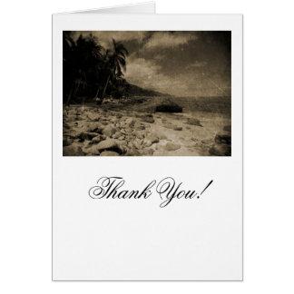 Rocky Beach Antique Greeting Card