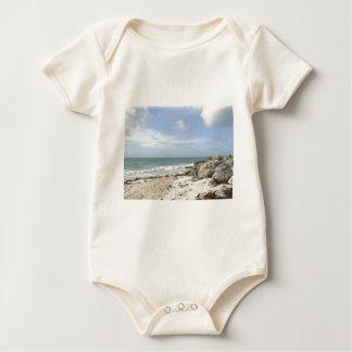 Rocky Beach at Port Lucaya, Freeport, Bahamas Baby Bodysuit
