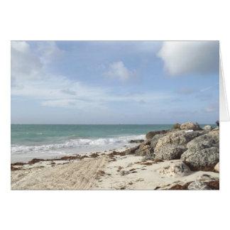 Rocky Beach at Port Lucaya, Freeport, Bahamas Card