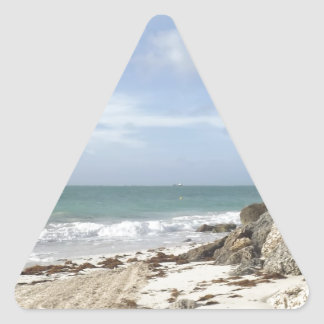 Rocky Beach at Port Lucaya, Freeport, Bahamas Triangle Sticker