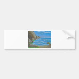 Rocky beach bumper sticker