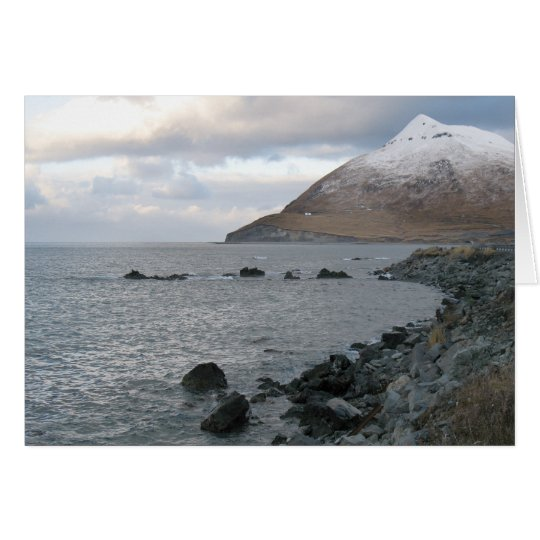 Rocky Beach, Dutch Harbor, Alaska Card