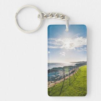 Rocky beach in Ireland (Greystones) Keychain