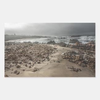 Rocky Beach in the Fog 2 Sticker
