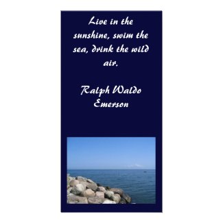 Rocky Beach Photo with Quotation photocard