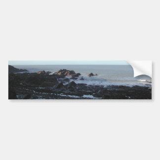 Rocky Beach. Scenic Coastal View. Bumper Sticker