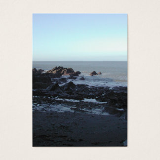 Rocky Beach. Scenic Coastal View. Business Card