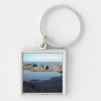 Rocky Beach. Scenic Coastal View. Key Chain