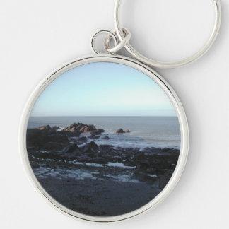 Rocky Beach. Scenic Coastal View. Key Chains