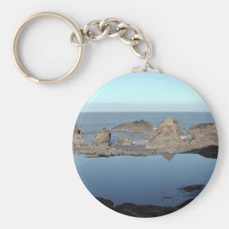 Rocky Beach. Scenic Coastal View. Keychain